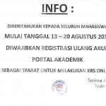 Registrasi Portal Akademik